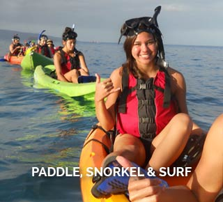 Paddle, Snorkel and Surf
